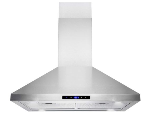 "Golden Vantage Island Mount Range Hood –30"" Stainless-Steel Hood Fan for Kitchen"